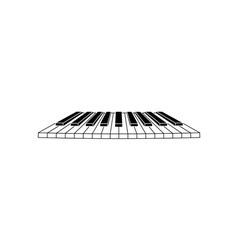 piano-clavier vector image