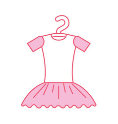 Pink tutu ballet on the hanger costume vector