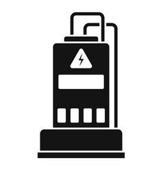 power generator icon simple style vector image