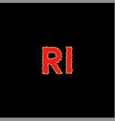 R i letter logo monogram design vector
