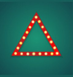 red light triangle frame background vector image