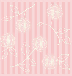 retro floral seamless backdrop wallpaper vector image