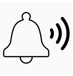 Ring bell icon vector
