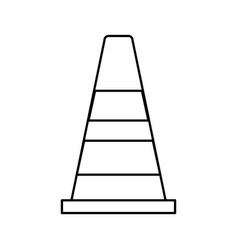 Safety cone icon vector