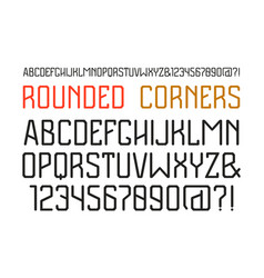 Sanserif font with rounded corners vector