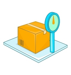 Scales for weighing goods icon cartoon style vector