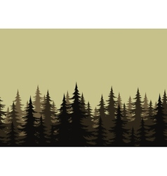 Seamless landscape forest silhouettes vector image