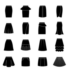 Set of black skirts vector