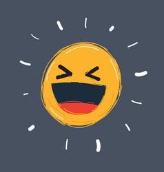 smiling emoticon emoji positive feelings vector image
