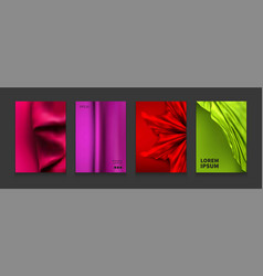 stock liquid color covers set vector image