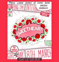 Sweetheart - congratulatory poster design vector