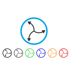 Swirl arrows rounded icon vector