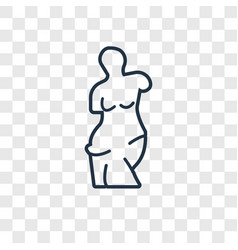 venus de milo concept linear icon isolated on vector image