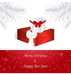 White Christmas card White Christmas tree vector image