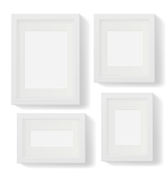 White frames vector