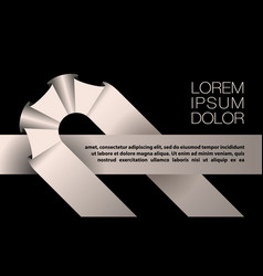 white ribbon background for text banner vector image