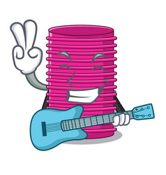With guitar hair curler on the character table vector