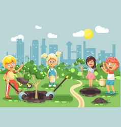 cartoon characters of children vector image