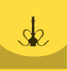 flat icon with dark shadow hookah and hookah vector image vector image