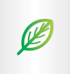green leaf icon design vector image vector image