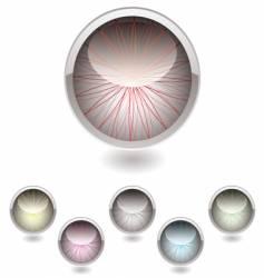 iris button collection vector image vector image