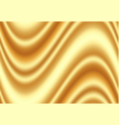 luxury golden silk fabric for background abstract vector image