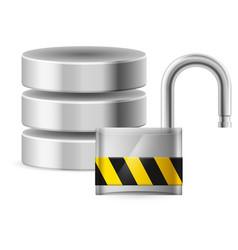 open padlock - computer security concept of vector image vector image