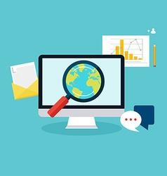 Social media flat modern design concept local vector image vector image