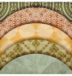 Vintage Floral Patterns vector image