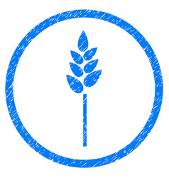 wheat ear rounded grainy icon vector image