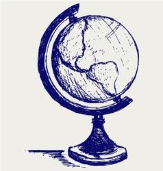 Globe sketch vector image vector image