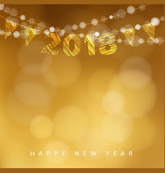 happy new year greeting card with 2018 and vector image vector image