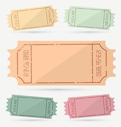 Retro - Vintage Empty Ticket Set vector image vector image