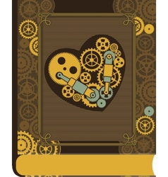 Steampunk mechanical heart vector image vector image