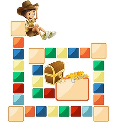 Boardgame template vector image vector image