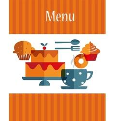breakfast menu template vector image vector image