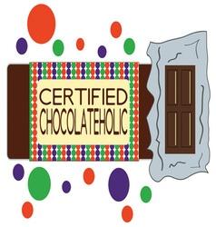 Chocolateholic vector image vector image