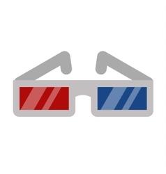 Cinema movie glasses on white background vector