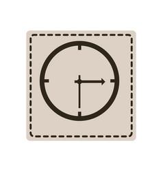 emblem sticker clock icon vector image