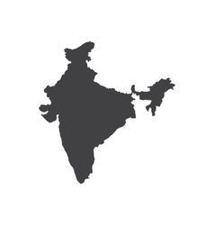 India map silhouette vector image vector image