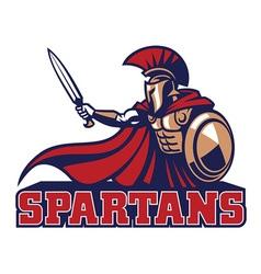 spartan mascot vector image vector image
