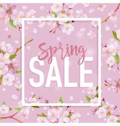 Spring Sale Banner Sale background Big sale vector image vector image