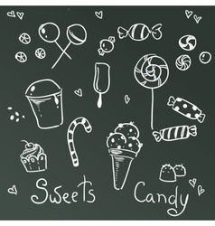 Sweets and chocolate icons vector image vector image