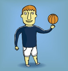 boy in a sportsuit vector image