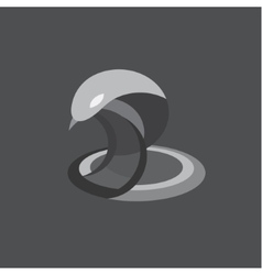 Cobra snake reptile flat on vector image vector image