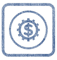 financial industry fabric textured icon vector image vector image