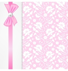 pearl border on lace background vector image vector image