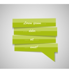 Speech Bubble Template vector image