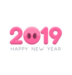 2019 happy new year typography design vector image