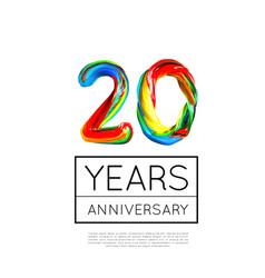 20th anniversary congratulation for company vector image